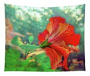 Hibiscus Flame Tapestry