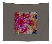 Hibiscus Stained Glass Tapestry