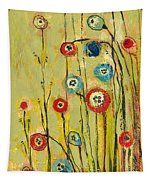 Hidden Poppies Tapestry by Jennifer Lommers