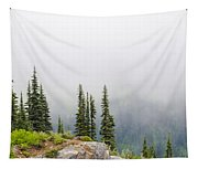 High Forest On Mt. Rainier Tapestry