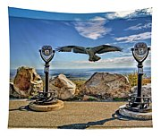 High Point Nj And Osprey Double Exposure Tapestry