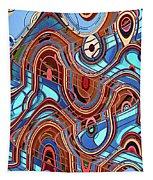 High Rise Abstract Phoenix Tapestry