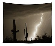 High Southwest Desert Lightning Strike Tapestry