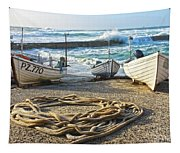 High Tide In Sennen Cove Cornwall Tapestry