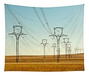 High Voltage Power Lines Tapestry