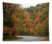 High Walls Of Fall Colors Tapestry