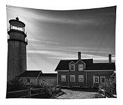 Highland Lighthouse Bw Tapestry