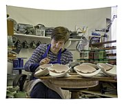 Highland Stoneware Artist At Work Tapestry