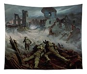 Highlanders Advancing To Caen Tapestry