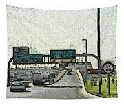 Highway In Dubai Tapestry
