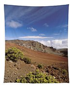 Hikers Inside Haleakala  Tapestry