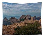 Hiking In Montserrat Spain Tapestry
