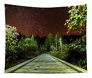 Hiking Into The Night Adirondack Log Keene Valley Ny New York Tapestry