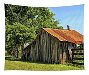 Hill Country Barn Tapestry