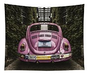 Hippie Chick Love Bug Tapestry