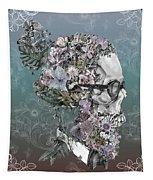 Hipster Floral Skull 2 Tapestry