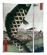Hiroshige: Kites, 1857 Tapestry