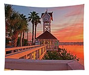 Historic Bridge Street Pier Sunrise Tapestry