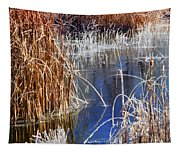 Hoar Frost On Reeds Tapestry