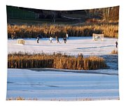 Hockey Game Tapestry