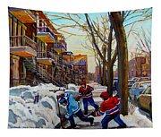 Hockey On De Bullion  Tapestry
