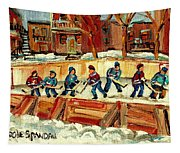 Hockey Rinks In Montreal Tapestry