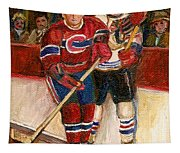 Hockey Stars At The Forum Tapestry