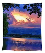 Hole In The Sky Sunset Tapestry