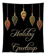 Holiday Greetings Merry Christmas Tapestry