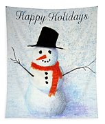 Holiday Snowman Tapestry