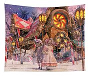 Holiday Village Tapestry