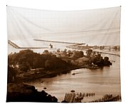 Holland Michigan Harbor Big Red Aerial Photo Tapestry