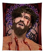 Holy Face Of Ecce Homo Tapestry