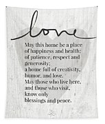 Home Blessing Rustic- Art By Linda Woods Tapestry by Linda Woods