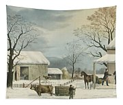 Home To Home To Thanksgiving, 1867 Tapestry
