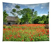 Homestead In The Poppies Tapestry