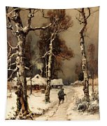 Homeward Through The Winter Forest Tapestry