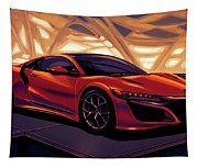 Honda Acura Nsx 2016 Mixed Media Tapestry