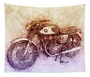 Honda Cb77 - Honda Motorcycles 2 - Motorcycle Poster - Automotive Art Tapestry