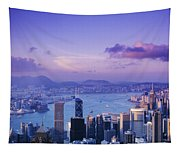 Hong Kong Harbor Tapestry