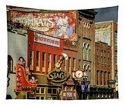Honky Tonk Row - Nashville Tn Tapestry