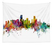 Honolulu, Miami And Nashville Skylines Mashup Tapestry