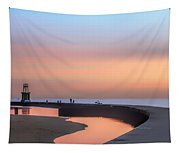 Hook Pier Lighthouse - Chicago Tapestry