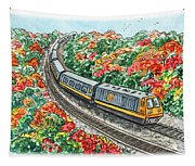 Hop On A Train Tapestry