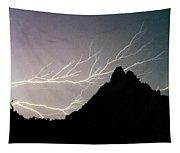 Horizonal Lightning Poster Tapestry