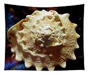 Horned Helmet Shell Top Logarithmic Spiral Tapestry