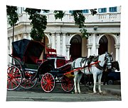 Horse And Buggy In Havana Tapestry