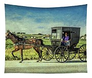 Horse And Buggy Tapestry