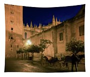 Horse And Carriage Seville Spain Tapestry