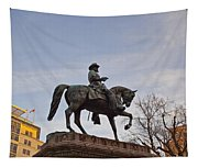 Horse And Rider Monument Tapestry